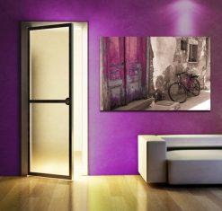 dekoracje fioletowy rower ozdoba
