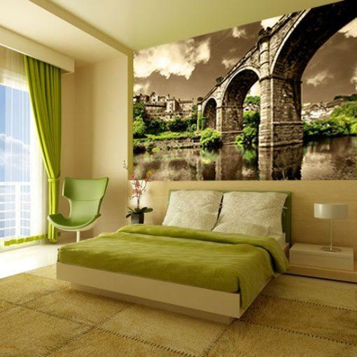 fototapety architektura sypialnia