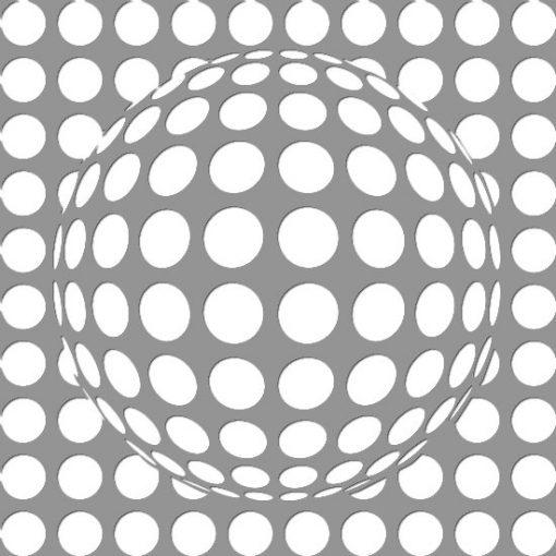 kula 3D na szablonie