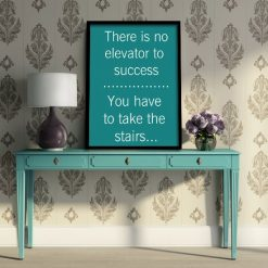 There is no elevator to success antyrama plakat
