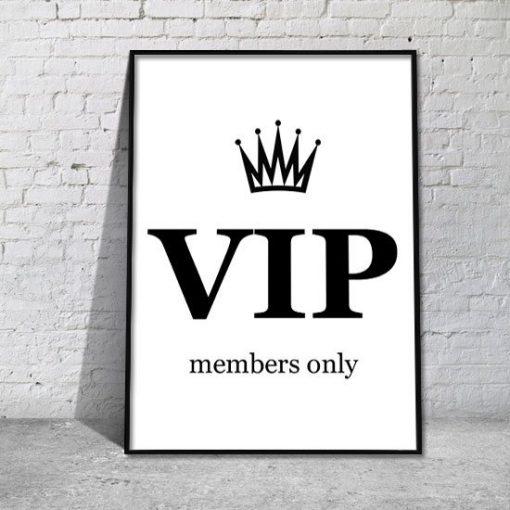 plakat VIP members only