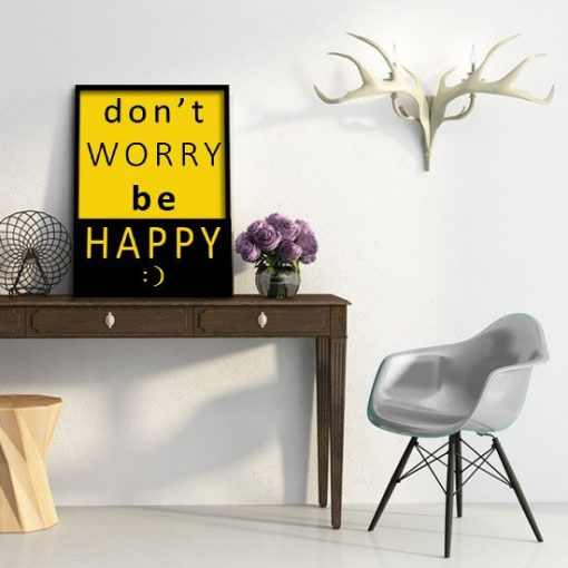 Don't worry be happy plakat