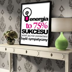 Plakat motywujący Energia żarówka