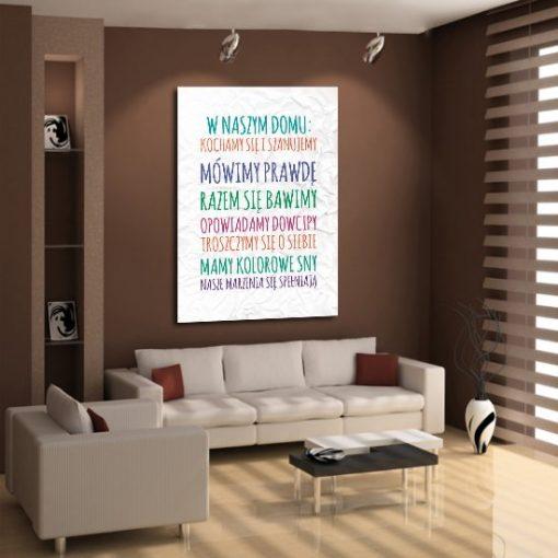 plakat zasady domu