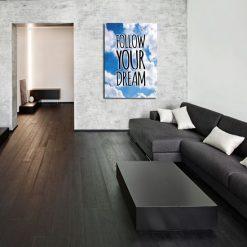 Follow Your dream hasło plakat