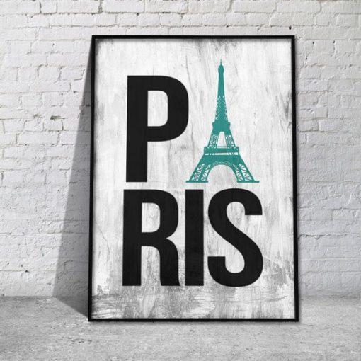 Paris napis plakat