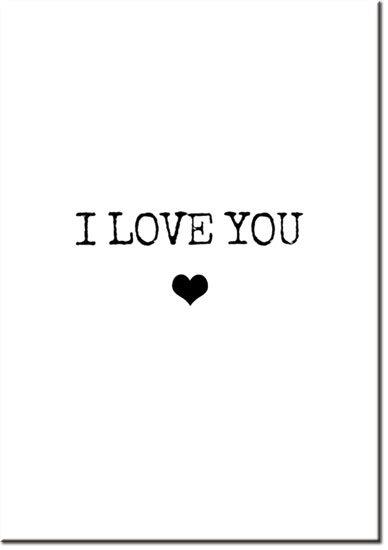 plakat I love You