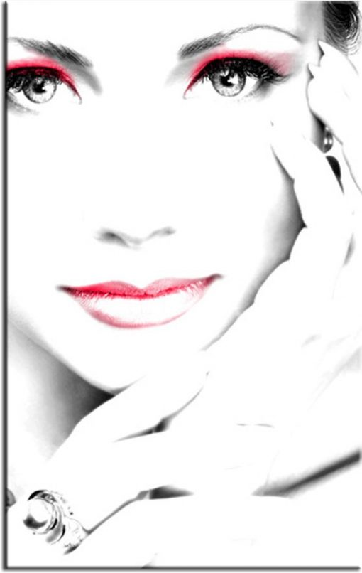 obraz twarzy pięknej kobiety