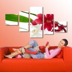 obraz z kwiatem