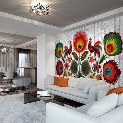 dekoracje ścian salonu