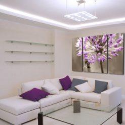 tryptyk fioletowe kwiaty
