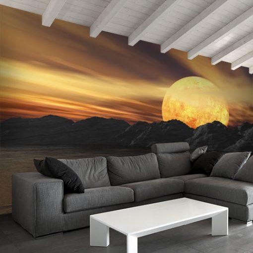 fototapeta z zachodem słońca
