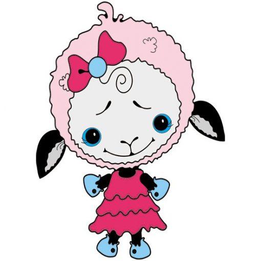 naklejka z owieczką