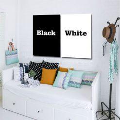 ozdoby czarno-białe