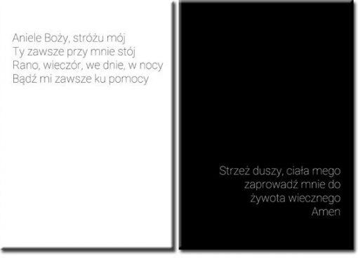 plakat z modlitwą