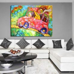 kolorowy obraz z autem
