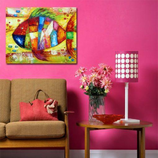 obraz jak malowany z rybką
