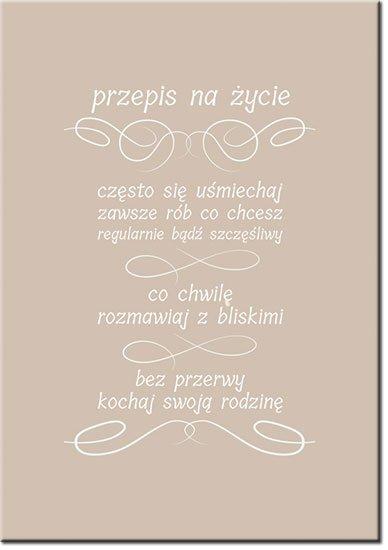 plakaty z przepisem na życie