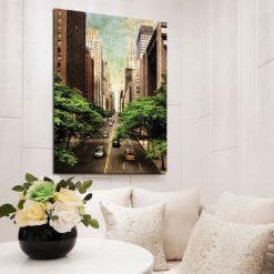 obrazy z panoramą miasta