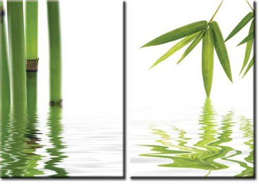 obrazy z bambusami