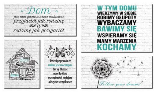 kaskady z typografią