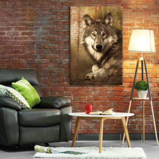 obrazy z wilkiem