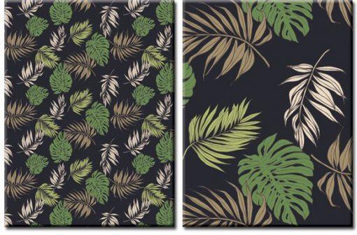 dekoracja z motywem tropikalnym