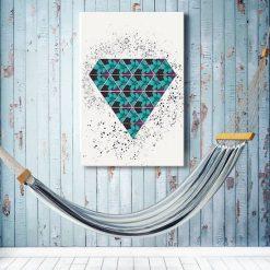 obraz z kryształem