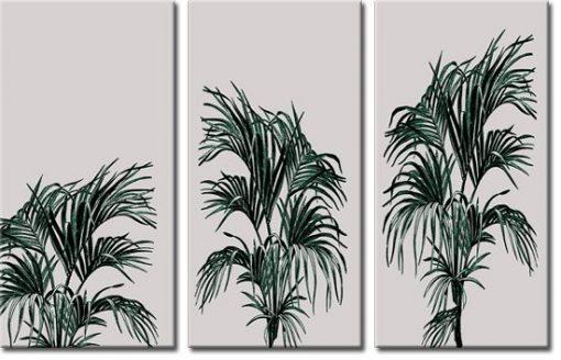 tryptyk z roślinami