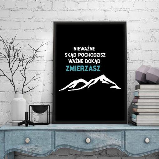 plakaty z typogrtafią