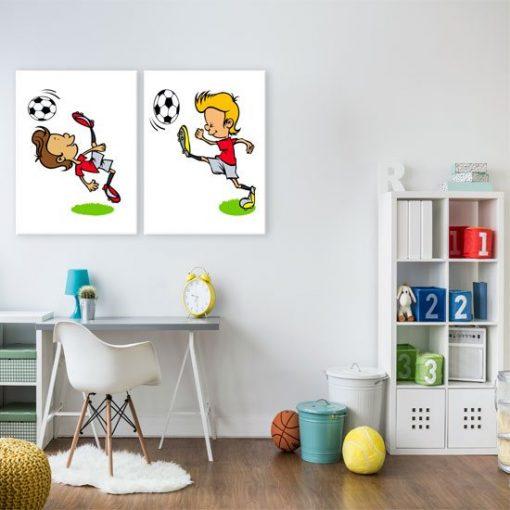 dyptyk z piłką nożną
