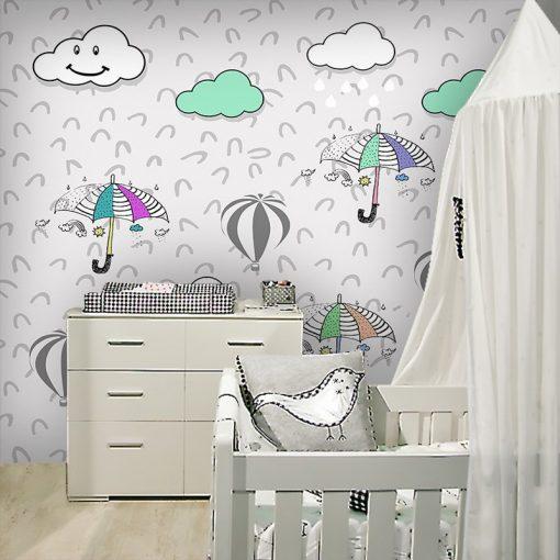 dekoracje z chmurkami