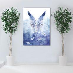 obraz dwa pióra