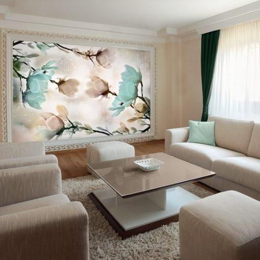 magnolie na fototapecie