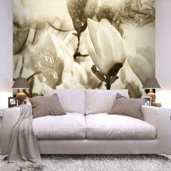 dekoracja z magnoliami