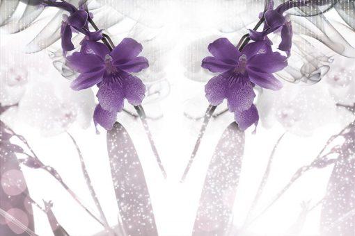 tapeta fioletowe kwiaty