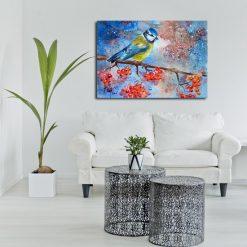 kolorowe obrazy do salonu
