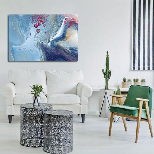 Obraz z abstrakcją wodną