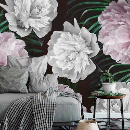 fototapeta na ścianę z kwiatami