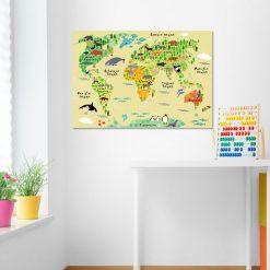 Plakat z kolorową mapą