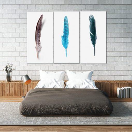 Obraz kolorowe pióra