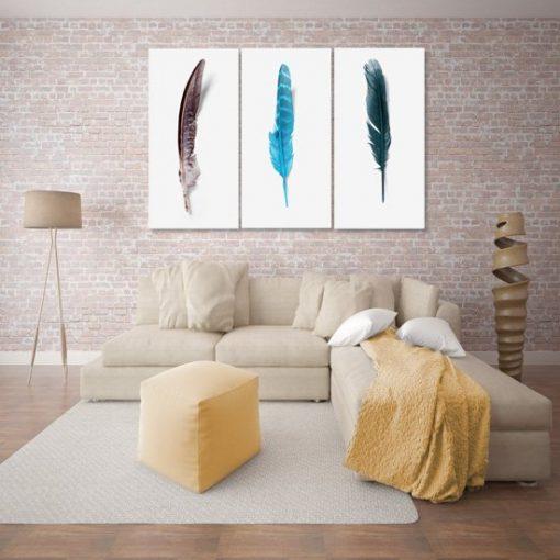Obraz pióra na ścianę