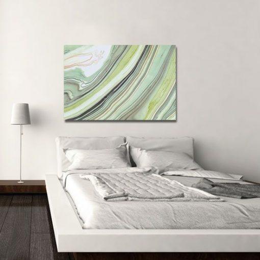 Obraz zielone mazaje