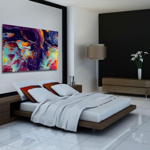 abstrakcja na obrazie