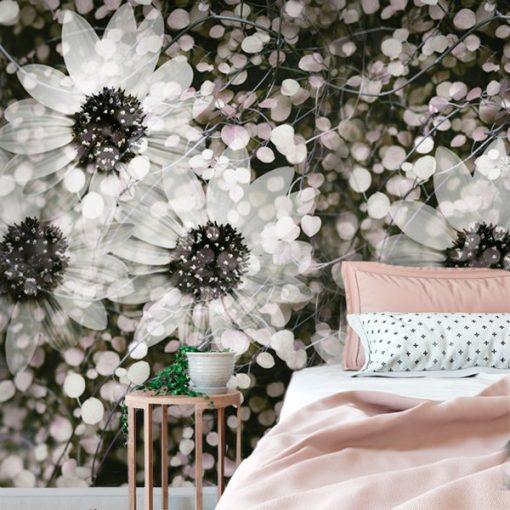 tapeta na ścianę - botaniczne motywy