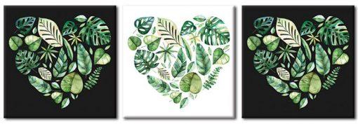 tryptyki z roślinami