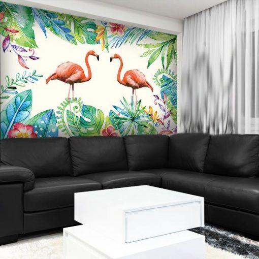 fototapety z flamingami