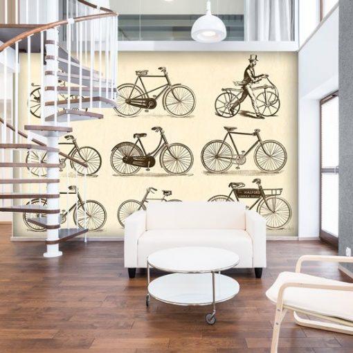 fototapeta z rowerami
