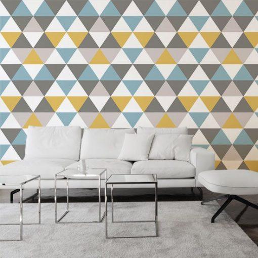 dekoracja z trójkącikami