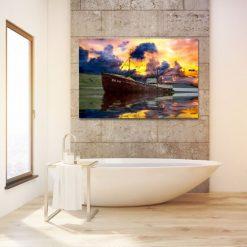 łazienkowy obraz z wodą